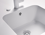 MIXA solid surface kitchen sink Corian.