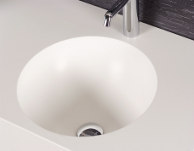 VIVARI Vanity with solid surface material like Corian, Krion, Hanex, HI-Macs oder Staron.