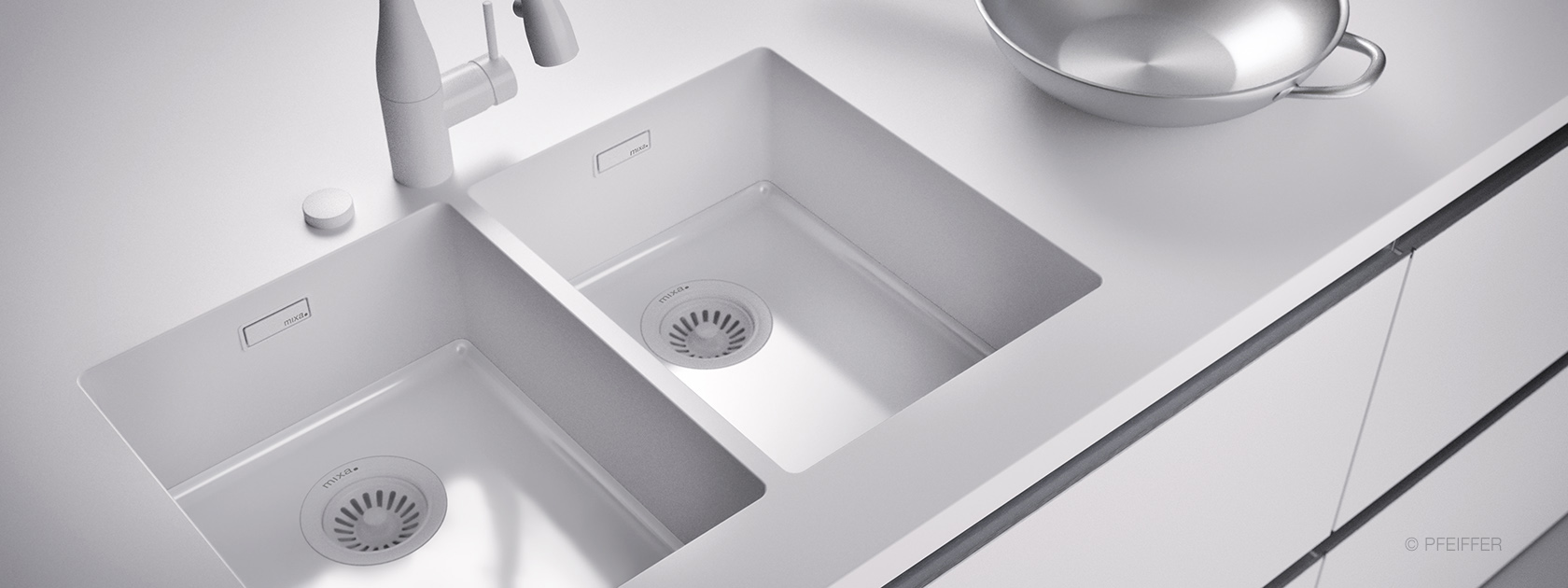 Mixa sinks and Vivari Washbasins.